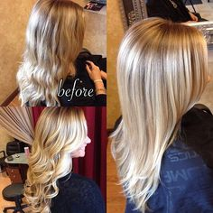balayage blonde before and after - Google Search