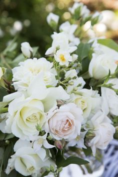 Heavenly white and pastel roses tinywhitedaisies