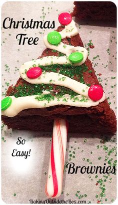 I made these Christmas Tree Brownies for a party. Everyone loved them. They were so fun and easy, I can't wait to make them again.