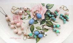cottage galsupcycled necklaces rebeaded shabby faded by Arey