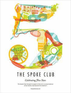 Five-Year Anniversary Poster; Design: Doublenaut, Andrew Matt McCracken Client: The Spoke Club Type Design, Layout Design, Design Art, Print Design, Logo Design, Design Elements, Typography Poster, Graphic Design Typography, Monospace