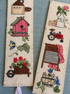 "Cross Stitch Bookmark, ""Country Life II"", Handmade Bookmark, Gift for Bookworm - Handcrafted 2019 Cross Stitch Needles, Cross Stitch Bird, Cross Stitch Designs, Cross Stitching, Cross Stitch Embroidery, Hand Embroidery, Cross Stitch Patterns, Gifts For Bookworms, Cross Stitch Bookmarks"