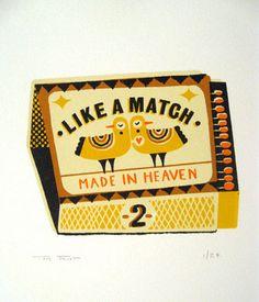 Tom Frost matchbook label