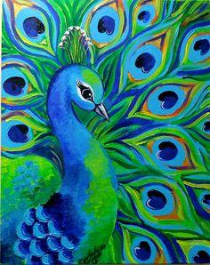 Diy canvas art 651473902328220626 - Painting canvas acrylic colour 25 Ideas for 2019 Source by Bird Painting Acrylic, Peacock Painting, Easy Canvas Painting, Peacock Art, Simple Acrylic Paintings, Acrylic Painting Techniques, Acrylic Painting Canvas, Acrylic Art, Abstract Canvas