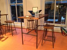 High top bar/counter height reclaimed wood table