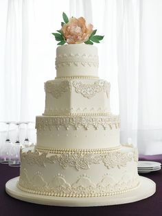 Image detail for -buttercream iced cake with chocolate fondant accents