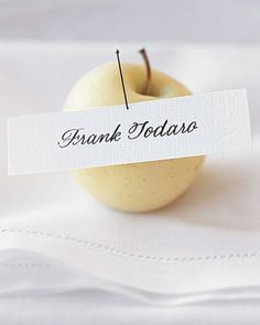 Green apple place card holder option #2 (romantic)