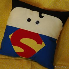 Superman Inspired Decorative Pillow by MarvelousKatastrophe, $24.00