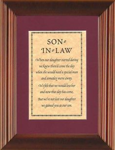 quoats about daughterin laws | son in law when our daughter started | Quotes That I Like
