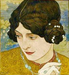 Jeune Fille aux Cheveux Noirs, Ernest Bieler (Swiss,1863-1948)