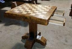 Custom Made Chess Table - by Boards48 @ LumberJocks.com ~ woodworking community