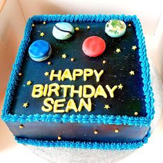 Galaxy Cake, Tag Art, Happy Birthday, Desserts, Cakes, Food, Happy Brithday, Tailgate Desserts, Deserts