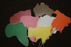 Continents - I made these to use during the song about the continents. Song found on JustMontessori.com.