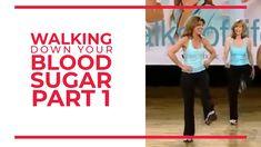 November - National Diabetes Month Walking Down Your Blood Sugar (Part 1) Toning Workouts, At Home Workouts, Easy Workouts, Walking Exercise, Walking Workouts, Dance Workout Videos, Exercise Videos, Leslie Sansone, Exercises