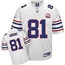 Terrell Owens Jersey, Reebok AFL 50th Anniversary Replica #81 Buffalo Bills Authentic Jersey in White