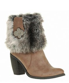 Look what I found on #zulily! Brown Charm Plush Boot by Reneeze #zulilyfinds