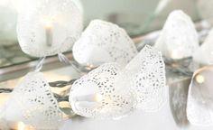 Doily fairy lights
