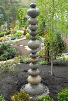 River Rock Garden | River Rock Statue - assemble in whatever shape ... | Yard and Garden ...