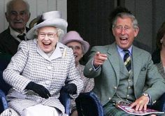 Prince Charles and his mother