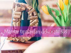 Mantar tıpalardan dekoratif süs #elyapımı #tasarım #kapısüsü #hülyalı