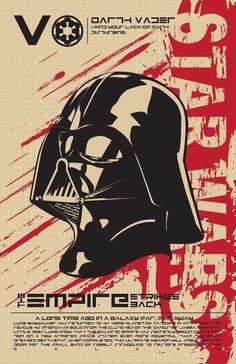 Darth Vader - Star Wars Poster Series by Kegan Rivers, via Behance