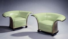 Pair of Spectacular French Art Deco Armchairs | From a unique collection of antique and modern lounge chairs at https://www.1stdibs.com/furniture/seating/lounge-chairs/