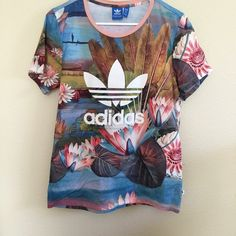 Adidas Tee in Lily SOLD OUT X farms tee in Lily by Adidas. Shirt is in Good condition, worn 3 times. Size small, runs large. Feel free to make a reasonable offer! Adidas top not included in 3 for $20 bundle Adidas Tops