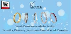 El Arte de Ammar ♥   20% de Descuento en Argollas y en anillos, diamantes y joyería general hasta el 30% de Descuento. La fecha más esperada del año en Varré llegó...El Buen Fin... #promociones #matrimonio #argollasdematrimonio #bodas #sábado #compromiso #anillodecompromiso #joyería #descuentos #noviembre #churumbelas #parejas #eventos #tbt #momentos #eshoradedisfrutar #elbuenfin