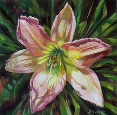 Donna Munsch Fine Art: Original Oil Painting Screaming Lily