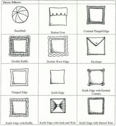 Image result for pillow styles