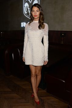 Lily Aldridge attends the after party for 'August: Osage County' presented by The Weinstein Company with Ram Trucks on December 12, 2013 in ...