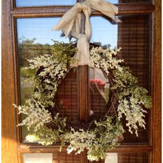 My spring/summer door wreaths. Thanks to Pinterest!