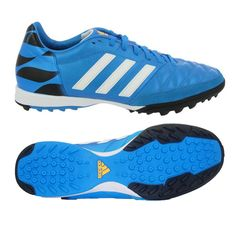 Adidas 11 Nova TF Turf Soccer Shoe (Solar Blue Black White) Best 60b7838b4