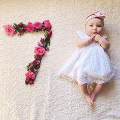 Instagram media cellajaneblog - Sutton Jane // 7 months #babysuttonjane #babygirl @hillyard_michael