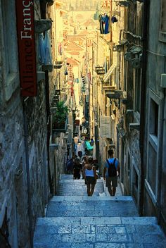 Steep Street,  Dubrovnik, Croatia