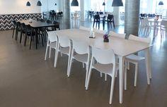 Danske Commodities, Copenhagen, Helle Nordal Clausen architect has selected STUA Lau tables and Laclasica chairs.