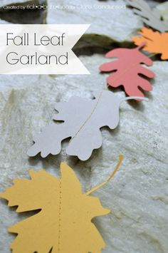 Fall Leaf Garland made with my Silhouette CAMEO