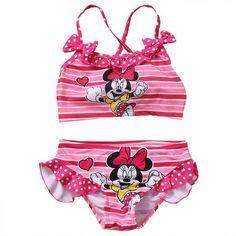 Toddler Kids Baby Girls Tankini Bikini Set Swimwear Swimsuit Bathing Suit Beachwear Pink Cute