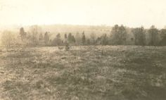 Battlefield of Second Manassass. Taken in the mid 1930s, this photograph shows the view (70 years later) that greeted Union Gen. Fitz-John Porter on August 29, 1862, as he attempted to flank Jackson's Confederate position. However, Longstreet's southern soldiers stood between Porter and his objective on the distant high ground. Today, I-66 runs through a portion of the landscape shown in this vintage photograph.