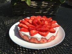 Aardbeienkwarktaart gemaakt 19-04-2914, recept van toetjesentaarten