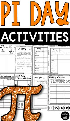 Fun activities for students to complete on for pi day. Classroom Activities, Activities For Kids, Word Challenge, Pi Day, Elementary Schools, Students, March, Challenges, Reading