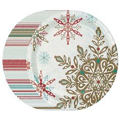 Memberu0027s Mark Peaceful Snow Paper Plates 10.25 $8 for 80  sc 1 st  Pinterest & Bulk Christmas House Snowflake Paper Party Plates 8.75 in. 18-ct ...