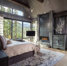 Mountain Chalet by Andrea Schumacher Interiors | HomeAdore ❥Pinterest: yarenak67