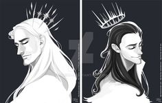 I was able to sneak in some time to do these. Star Crown Thor is back! Along with Spikey Crown Loki. I seriously have a problem with putting shiny crowns on these two. Thor and Loki © Marvel Thor X Loki, Marvel Avengers, Marvel Comics, Loki Fan Art, Hobbit, Avengers Art, Thranduil, Loki Laufeyson, Tom Hiddleston Loki