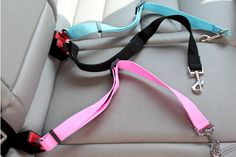 Dog Car Seat Safety Belt (Black)