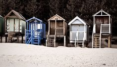 What an great idea........little beach Huts.....livin the dream