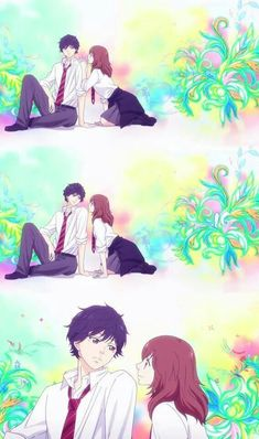 Ao Haru Ride is a shoujo anime airing this season and Kou has got the good looks of any shoujo lead