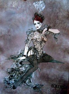Costume rendering by Gregg Barnes.