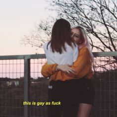 i'm gay as fuck Couple Girls, Girls In Love, Gay Couple, Cute Lesbian Couples, Lesbian Love, Cute Couples Goals, Lesbian Quotes, Gay Aesthetic, Couple Aesthetic