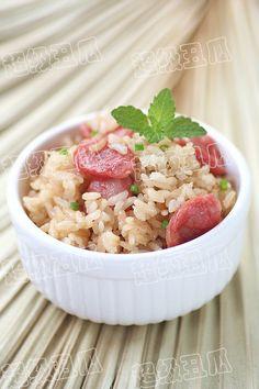 香肠焖米饭